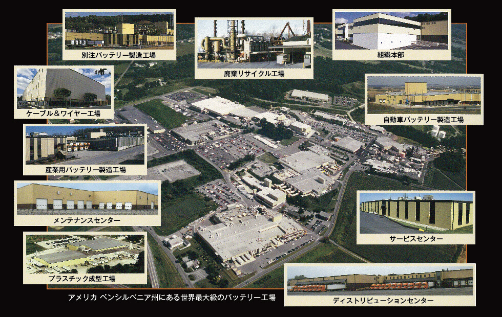 アメリカペンシルベニア州にある世界最大級のバッテリー工場